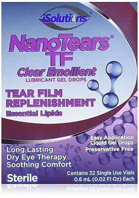 NanoTears TF Clear Emollient Lubricant Dry Eye Therapy Drops 32ct 3/17