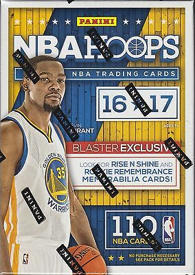 2016-17 NBA Hoops Basketball blaster box 11 packs 110 cards 1 auto or jersey new