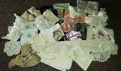 HUGE! Vintage Antique Linen Parcel Collection Doilies,Runners,Crochet,Embroidery