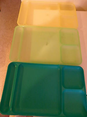 Tupperware Vintage Lunch Trays Picnic Camping