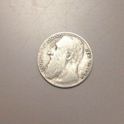 1901 Leopold ll Silver 50 Cent Coin