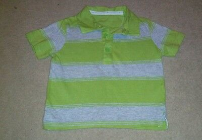 Mothercare Green & Grey Polo Shirt Age 12-18 Months