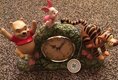 """Pooh And Friends Clock """" Playful Fun On The Run"""""""