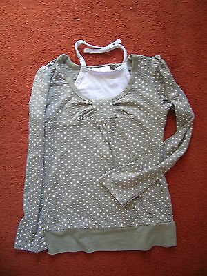Girls long sleeved  top, by Next, age 3yrs,  taupe