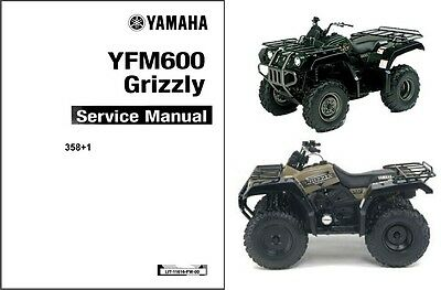 1898-1999-2000-2001 Yamaha Grizzly 600 ( YFM600 ) ATV Service Manual on a CD