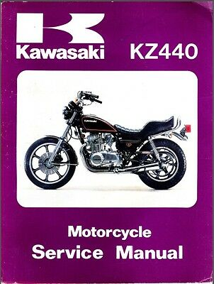 1980-1981-1982 Kawasaki KZ440 ( KZ 440 ) Service Manual on a CD