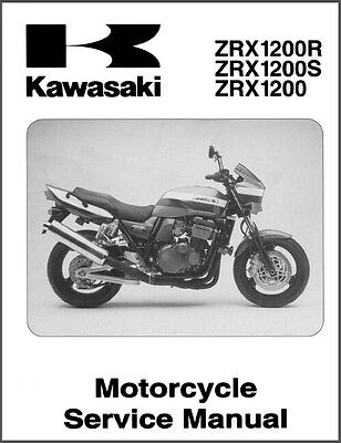 2001-2007 Kawasaki ZRX1200R ZRX1200S ZRX1200 Service Manual on a CD - ZRX 1200