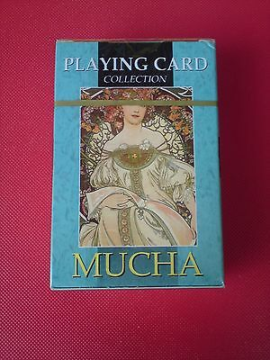 Liberty Art Nouveau in 54 Illustrated Playing Card Collection by Alphonse Mucha