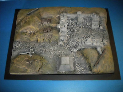 "Airfix Type 1/32 1/35 WWII Battlefield ""Ruined Bunker"" Diorama Base"