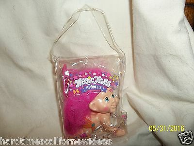Troll Doll Applause Magic Troll Crawling Baby With Brush Is Pouch
