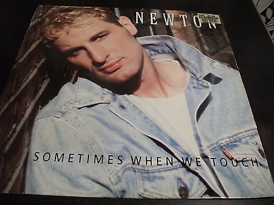 """12"""" Vinyl Record/ Newton - Sometimes When We Touch : Vg+"""