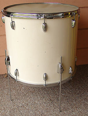 1958 SLINGERLAND 18 x 20 floor tom in a uncommon Factory Solid White Duco finish