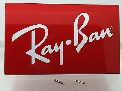 Authentic Rayban RB 2140 Original Wayfarer Hinge Temple Screws New! Genuine