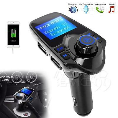 LCD Wireless Bluetooth Car MP3 FM Transmitter AUX USB Disk Charger Handsfree Kit