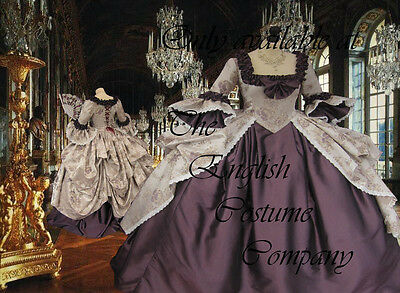 POLONAISED Heavy brocade and taffeta Versailles Marie Antoinette corseted gown