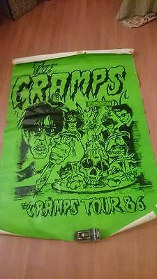 RARE affiche poster cartel THE CRAMPS tour 86