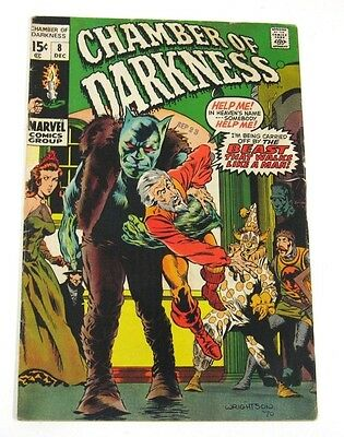 Chamber of Darkness # 8 (Marvel 1970) Wrightson cover, great horror series