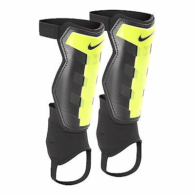 NIKE Charge SOCCER SHIN GUARD SET Adult Small Black/Volt Reinforced Tibia UNUSED