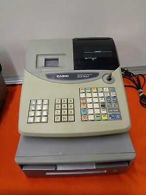 Casio Electronic Cash Register Pcr-T465  With Key