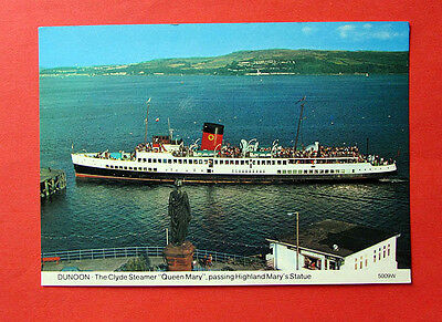 Queen Mary, Paddlesteamer at Dunoon, Scotland - Postcard, Unused