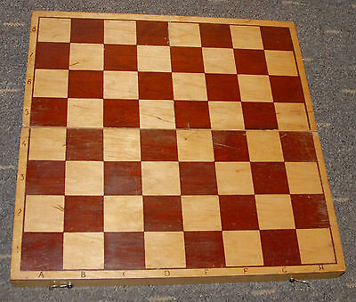 Vintage Soviet Wooden Chess Checkers Board 37x37cm 1980s Size Nr.4 Russia