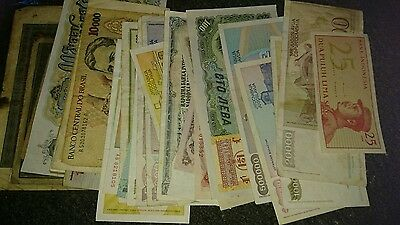 Selection of forgien banknotes