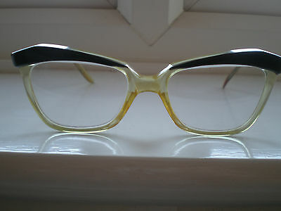 FABULOUS Vintage 50's HADLEY 'Lacey' BLACK CATS EYE Glasses/Frame/Spectacles