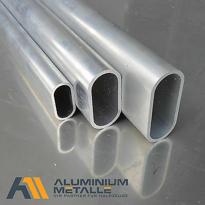 Aluminum oval tube 60x30x3mm AlMgSi0,5 Length selectable Profile pipe