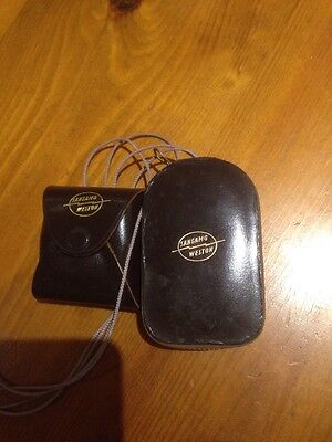 Weston Master V Light Meter & Case With Cased Invercone In Good Condition