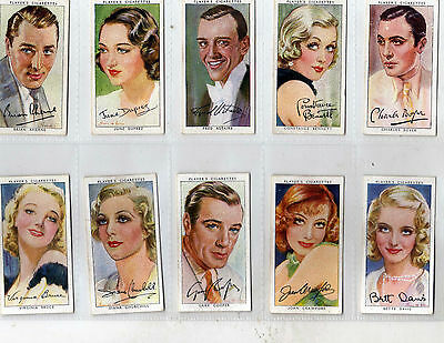 Player - Film Stars Series 3 - Full Set in Plastic Sleeves (Bly)