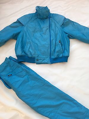 Vintage 80's Ladies Match Ski Suit SZ UK 14/16 #362