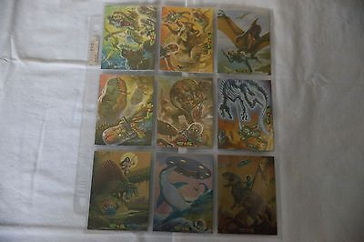 Mars Attacks Occupation/Kickstarter Dinosaurs Attack 9 Card Foil Parallel Set