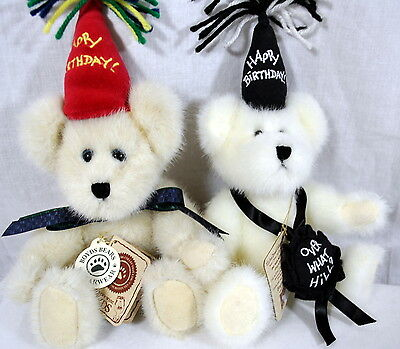Boyds Happy Birthday Bears - Over the Hill and Bearwish Bears -  New With Tags