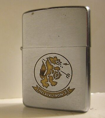 1967 Us Navy Zippo Helatkltron-3 Seawolves Helicopter Attack Squadron Vietnam