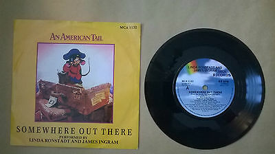 "Linda Ronstadt&James Ingram-Somewhere out there b/w Somewhere ou.7""vinyl record."