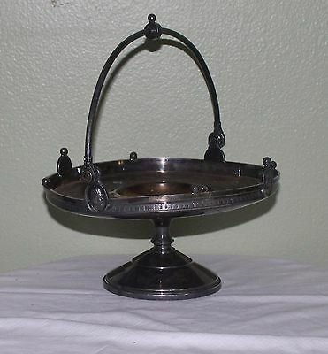 """Antique Reed and Barton Silver Plate Tazza or Brides Basket 9"""" Dia x 10.5"""" H"""