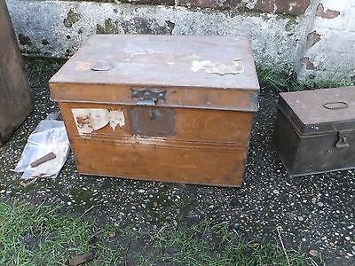 Vintage deed box, Victorian scumbled