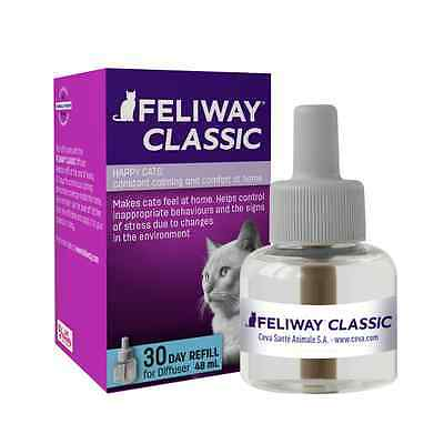 x2(two) Feliway Classic Pheromone Diffuser Refill 30 Days 48ml-Cat Stress Relief