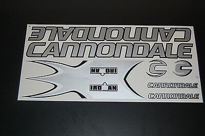 Cannondale Iroman Stickers Silver & Black.
