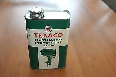 Vintage 1950's Texaco Outboard Motor Oil Can
