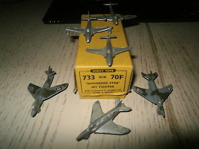 Dinky Toys 1950 No 733 70F Trade Box  Of Six Vintage Shooting Star Jet Fighters