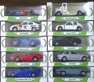 Set of 10 Corgi Performance Car Collection models. All mint/boxed!