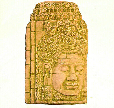 Rare KHMER Clay BAS RELIEF Wall FRAGMENT Aspara Devata ANGKOR Wat Reproduction