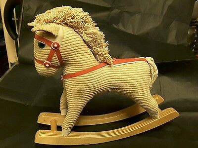 Fabulous toy rocking horse ideal for doll collection approx 8.5 inches high