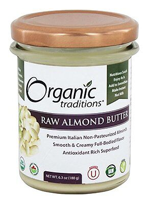 Raw Almond Butter - 6.3 oz (180 Grams) by Organic Traditions
