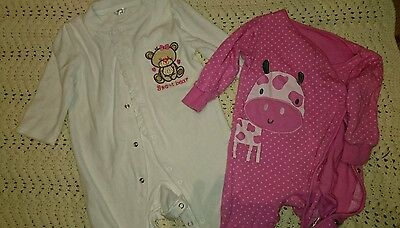 baby girl sleepsuits 2 pack 6-9 months