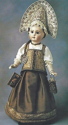 """23""""antique Russian Traditional Costume/dress&boots+18""""french Corset Pattern"""