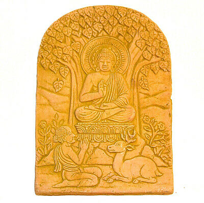 KHMER Clay BAS RELIEF Wall FRAGMENT Buddha ANGKOR Wat Nice Thai Culture Gift