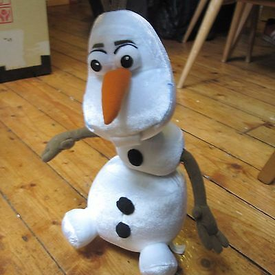 """Olaf Frozen Snowman Official Disney Just Play Talking Cuddly Plush Toy 14"""""""