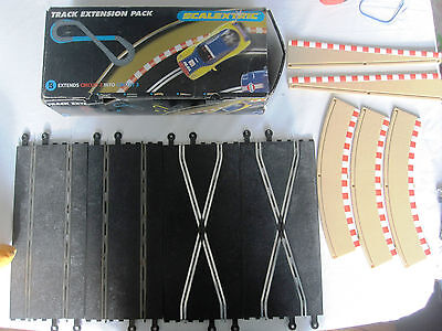 Scalextric Classic Track Extension Pack B Straight Cross Lead In Boxed Complete